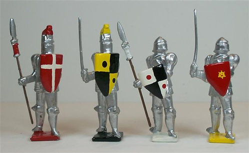 M102 - Medieval Foot Knights - 4 pieces