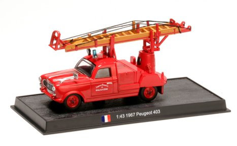 CBO130 - Aerial Ladder on Peugeot 403 (1958)  Scale: 1:43