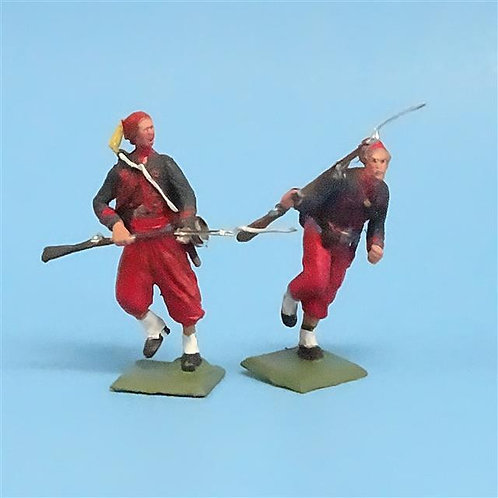 CORD-318 Union Zouaves (2 Figures) - Unknown Manufacturer - 54mm Metal - No Box