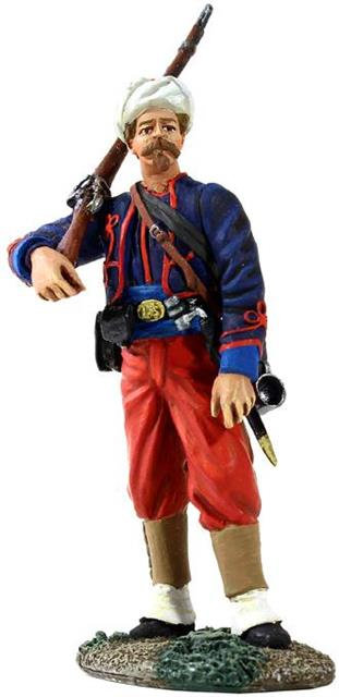 31227 - Union Infantry 114th Pennsylvania Zouaves in Turban Standing with Musket