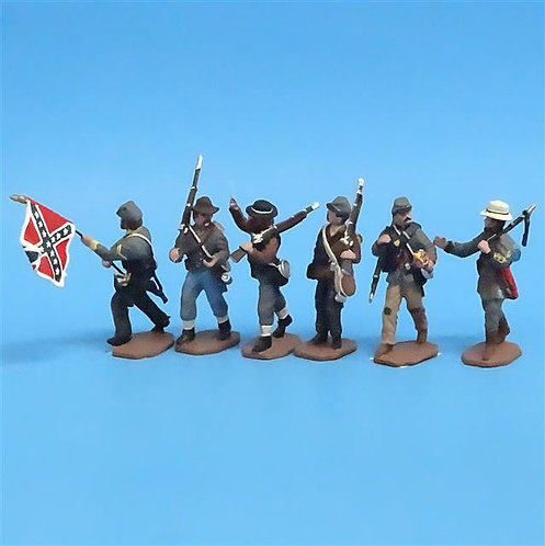 CORD-0611 - Confederates Marching (6 Figures) - ACW - CC - 54mm Metal - No Box