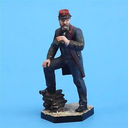 CORD-0734 Confederate Officer - ACW - Niena - Russian Made - 54mm Metal - No Box