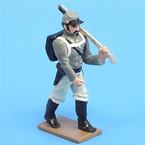 CORD-0878 Confederate Marching  - ACW Unknown Manufacturer - 54mm Metal - No Box