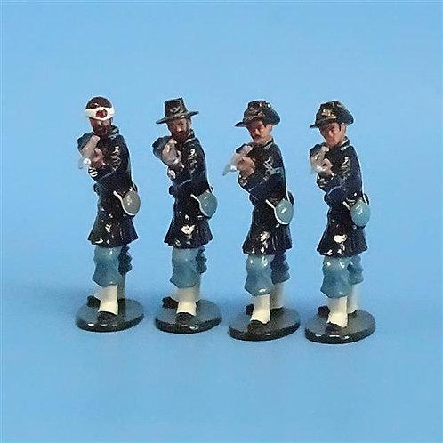 CORD-085 - Iron Brigade Standing Firing (4 Figs) - Tedtoy - 54mm Metal - No Box