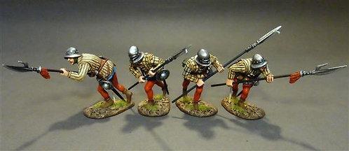 YORK-27N - Yorkist Billmen (4 figures)  The Battle of Bosworth Field 1485