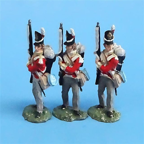 CORD-N0144 - British Infantry - Port Arms (3 Pieces) - All the King's Men - 54mm