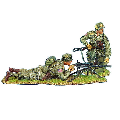NOR012 - US 101st Airborne Paratrooper .30 Cal Browning MG Team