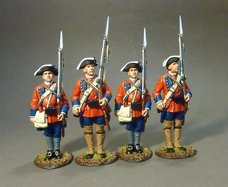 RRB60-06N - 60th (Royal American) Regiment of Foot, Line at Attention Set