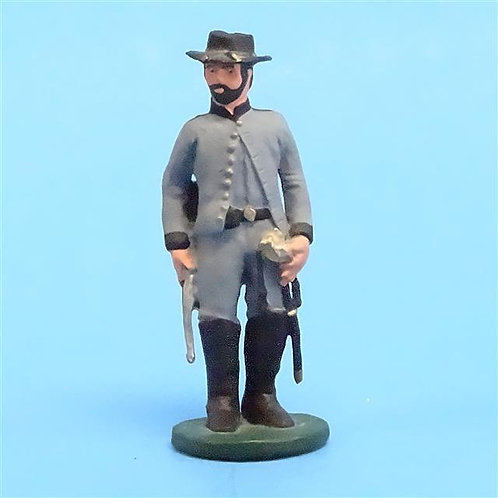 CORD-0768 Confederate Officer - ACW - Unknown Manufacturer - 54mm Metal - No Box