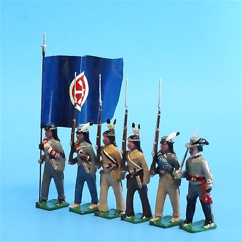 COWF-0123 - Choctaw Brigade  CSA, with Flag (2 Boxes)