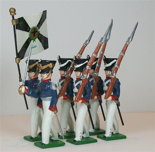 G221 - Prussian Infantry, Marching - 6 figures