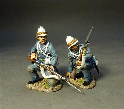 RML-07 - Two Marines Kneeling  Royal Marine Light Infantry