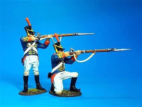 1812M-02 - Marines Firing  US Marine Corps, 1814  War of 1812