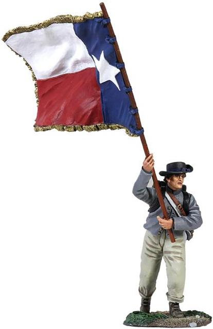 31187 - Confederate Infantry Color Sergeant Charging, 1st Texas Flag No.1