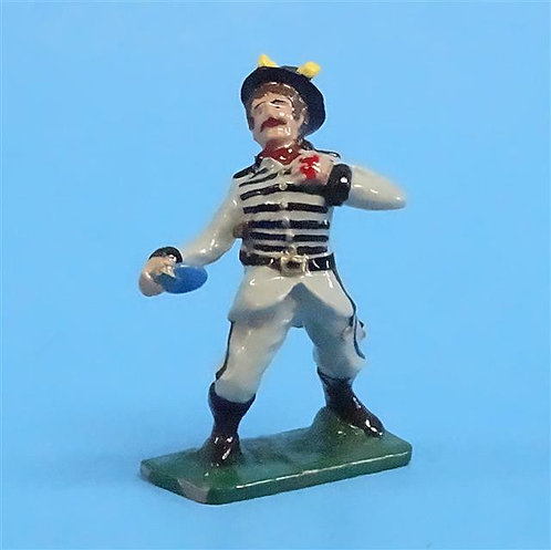 CORD-0602 - Confederate Shot - ACW - Stars and Stripes - 54mm Metal - No Box