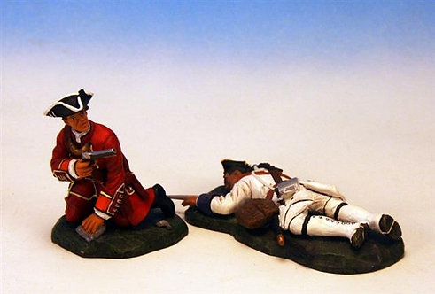 HMA.2 - Wounded British Officer and Dead French Man, 35th Regiment of Foot