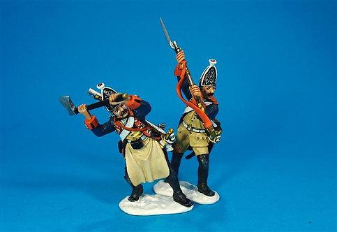 LEUT-09 - Prussian Grenadiers Attacking Gateway  The Battle of Leuthen 1757