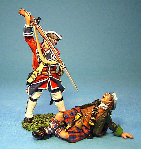 JR-18 - Combat Set #5  Wounded Highlander and Line Infantry