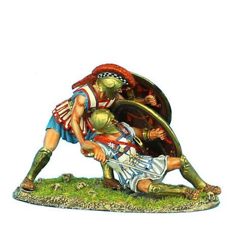 AG015 - Hoplite Protecting Fallen Comrade Vignette