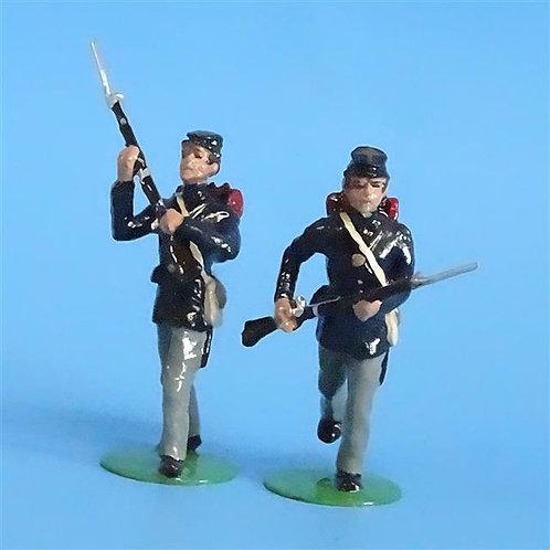 CORD-266 -Union Infantry Advancing (2 Figs) - ACW - Alymer - 54mm Metal - No Box