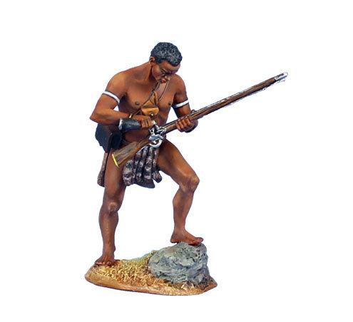 ZUL019 - uMbonambi Zulu Warrior Loading Musket