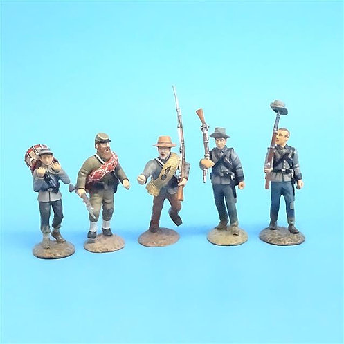 CORD-0571 - Confederates Marching (6 Figures) - ACW - Frontline - 54mm Metal