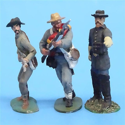 CORD-0785 Confederates Advancing (3 Figures) - ACW - Unknown Manufacturer - 54mm