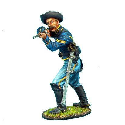 ACW028 - Union Dismounted Cavalry Trooper Firing Carbine