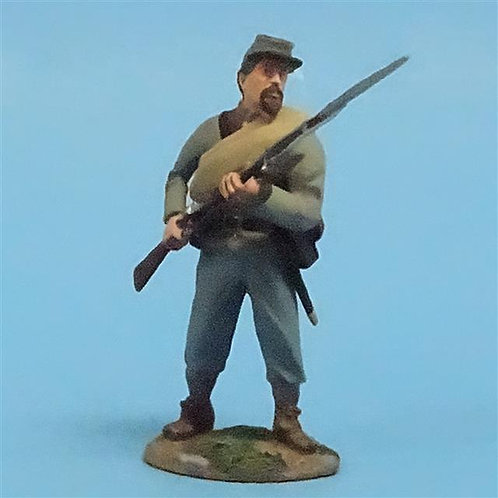 CORD-0677 Confederate Infantry at the Ready - ACW - Britains (Set 31005) - 54mm