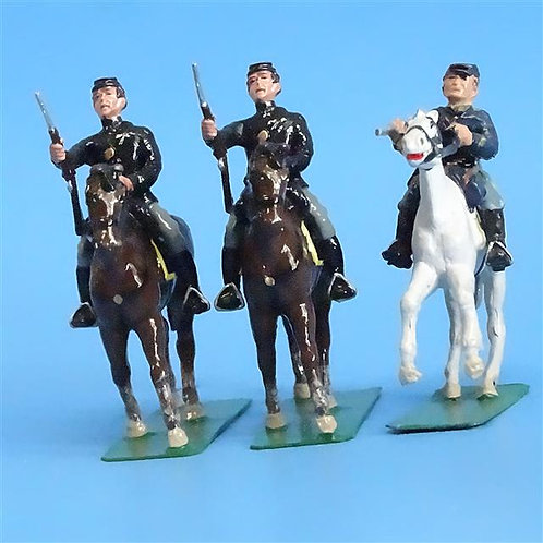 CORD-1102 - 3 Union Cavalry Troopers - ACW - Unknown Manufacturer - 54mm Metal