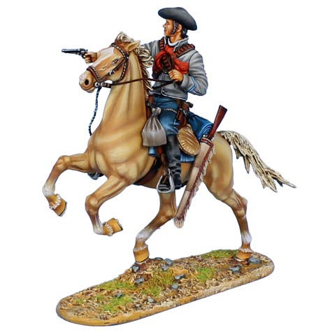 WW009 - Mounted Gunfighter with Remington 1858 New Army Revolver