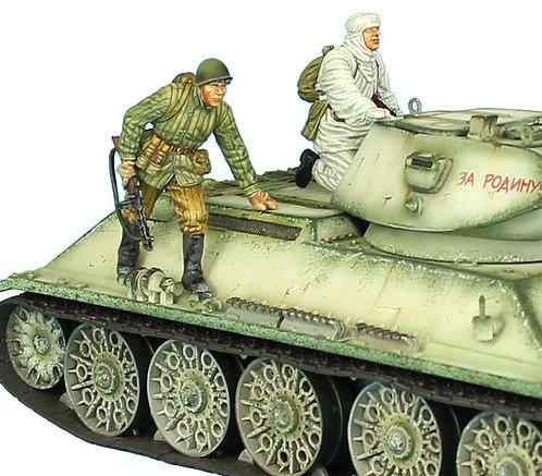 RUSSTAL030 - Russian Infantry Winter Tank Riders Set #1