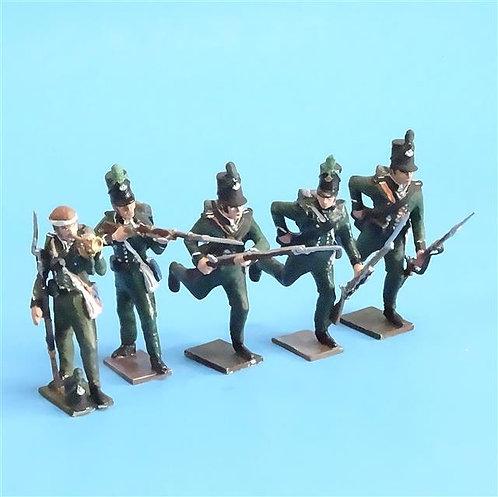 CORD-N0119 - 95th Rifles - (5 Pieces) - Tradition - 54mm Metal - No Box