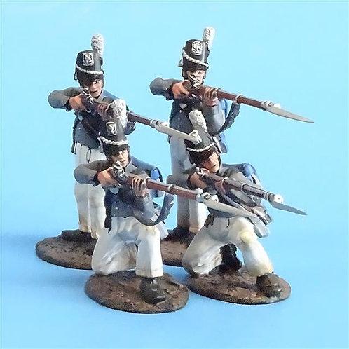 CORD-A0102 Scotts Brigade Firing Line #1 (4 Pieces) - War of 1812 - John Jenkins
