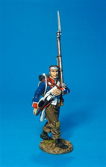 PFL-08B -Wounded Fusilier Marching in Brown Trousers  French Line Infantry, 1807