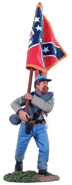 31012 - Flagbearer Advancing - Army of Northern Virginia Battle Flag