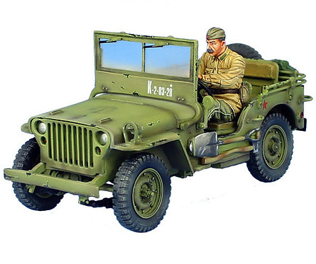 RUSSTAL037 - Russian Lend-Lease Willys Jeep with Driver