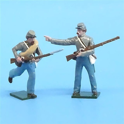 CORD-0752 Confederate Soldiers (2 Figures) - ACW - Tradition 54mm Metal - No Box