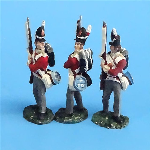 CORD-N0161 - British Infantry - Port Arms (3 Pieces) - All the King's Men  54mm