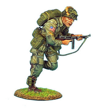 NOR009 - US 101st Airborne Corporal Running with Thompson SMG