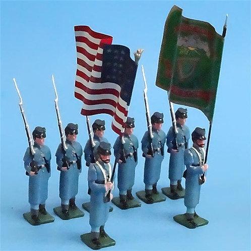 COWF-0039 69th New York Volunteer Infantry Regiment  Winter Great Coats, 2 Flags