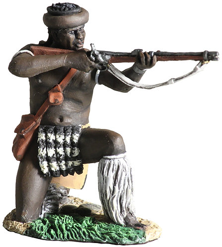 20117 - Zulu uDloko Regiment Kneeling Firing Percussion Rifle No.1