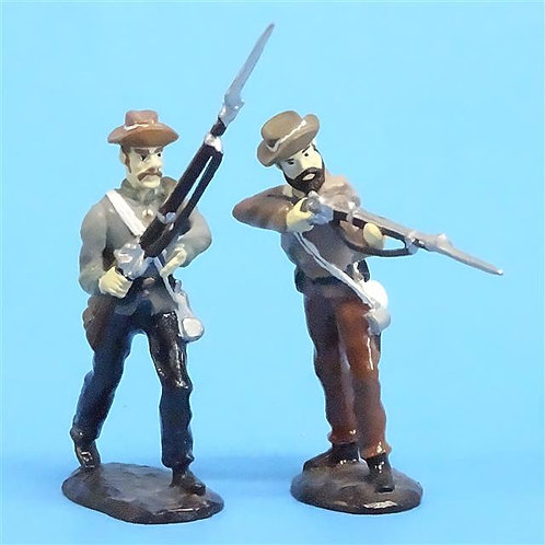 CORD-0817 - Confederate Soldiers (2 Figures) - ACW - Unknown Manufacturer - 54mm