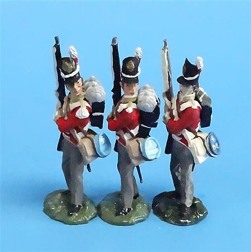CORD-N0151 - British Infantry - Port Arms (3 Pieces) - All the King's Men 54mm
