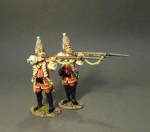 QBLG-05 - Louisbourg Grenadiers  22nd Regiment of Foot Grenadiers Firing