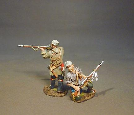 MF-06W - Two French Militia, Trois Rivieres Brigade