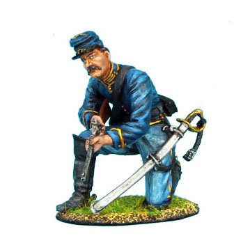 ACW031 - Union Dismounted Cavalry Trooper Kneeling Ready