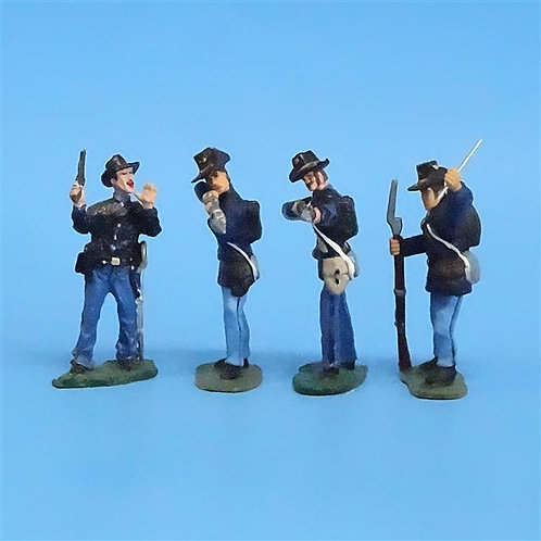CORD-100 Iron Brigade Standing Firing and Loading (4 Figs) - LeMans - 54mm Metal