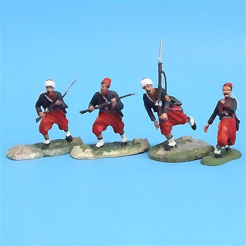 CORD-323 Union Zouaves (4 Figures) - Unknown Manufacturer - 54mm Metal - No Box