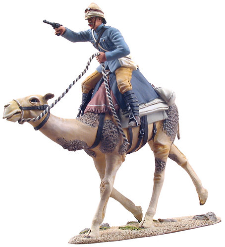27011 - British Camel Corps Officer Mounted Advancing No1